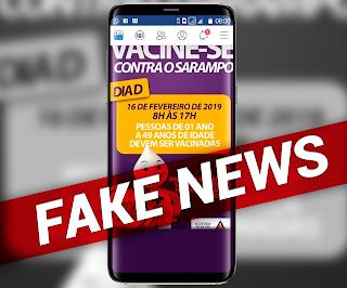 Prefeitura esclarece que é falsa publicação sobre vacinação contra Sarampo