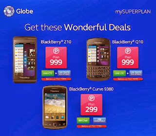 BlackBerry Z10 and Q10 Free At Globe Plan 999