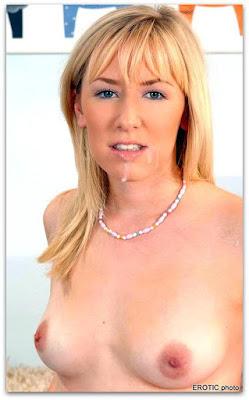 муж спустил малофью на голую женушку