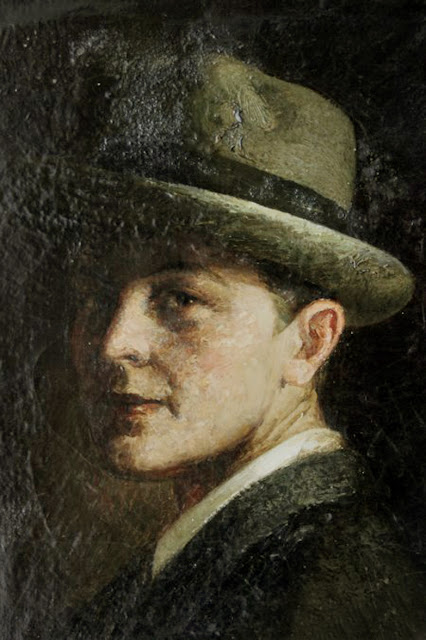 Alfredo Palmero de Gregorio, Self Portrait, Portraits of Painters, Alfredo Palmero, Fine arts, Portraits of painters blog, Paintings of Alfredo Palmero, Painter Alfredo Palmero