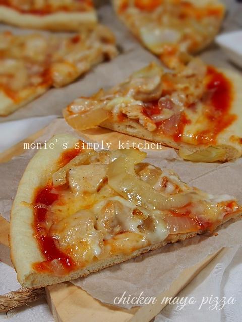 chicken mayo pizza resep