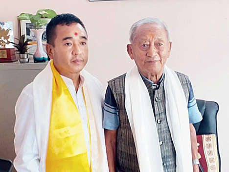 P.S. Golay, the president of the Sikkim Krantikari Morcha