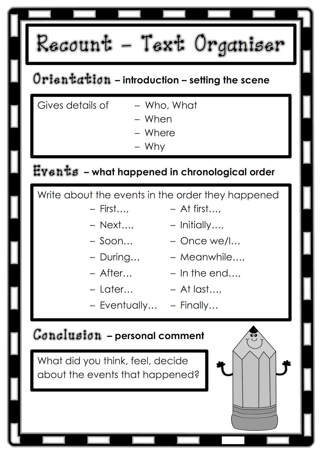 Recount Writing Activities Year 1 Movie