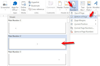 penomoran halaman skripsi di ms word