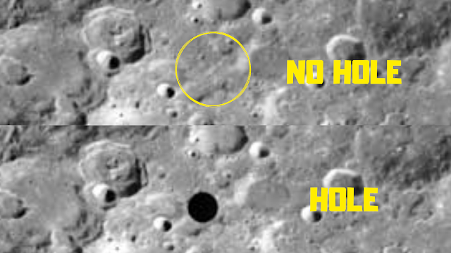 Image showing the two different discrepancies on the Lunar surface.