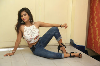 Deekshita Parvathi in a short crop top and Denim Jeans Spicy Pics Beautiful Actress Deekshita Parvathi January 2017 CelebxNext (166).JPG
