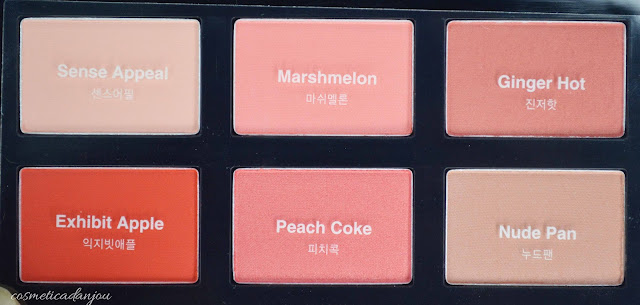 It's Skin Life Color Palette Cheek #Cozy Pop swatches