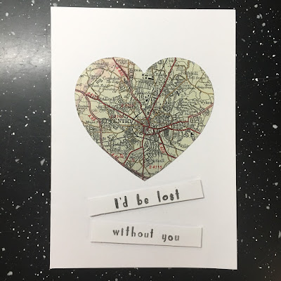 Coventry Map Valentines Card