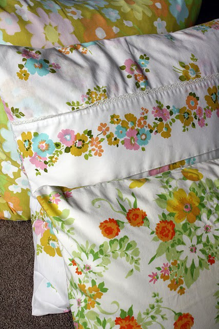 Things to sew - vintage sheet pillowcases