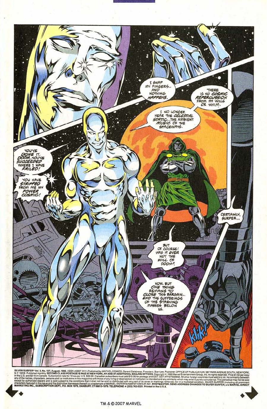 Read online Silver Surfer (1987) comic -  Issue #107 - 3