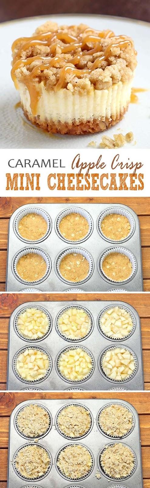 Caramel Apple Crísp Míní Cheesecakes