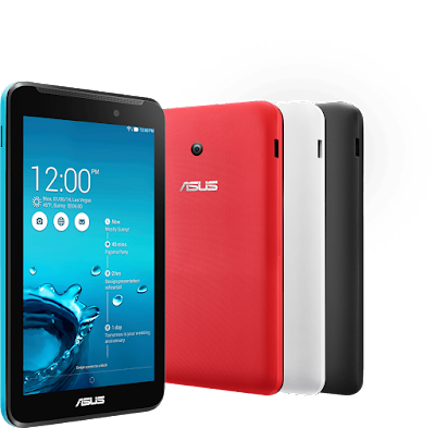 Asus Memo Pad HD7 8 GB Specifications - LAUNCH Announced Tablet with no support for GSM voice communication, SMS, and MMS This is not a GSM device, it will not work on any GSM network worldwide. Status  DISPLAY Type IPS LCD capacitive touchscreen, 16M colors Size 7.0 inches (~59.9% screen-to-body ratio) Resolution 800 x 1280 pixels (~216 ppi pixel density) Multitouch Yes, up to 10 fingers  - ASUS Waveshare UI BODY Dimensions 196.8 x 120.6 x 10.8 mm (7.75 x 4.75 x 0.43 in) Weight 302 g (10.65 oz) SIM No PLATFORM OS Android OS, v4.2 (Jelly Bean), upgradable to v4.2.2 (Jelly Bean) CPU Quad-core 1.2 GHz Cortex-A7 Chipset Mediatek MT8125 GPU PowerVR SGX544 MEMORY Card slot microSD, up to 32 GB (dedicated slot) Internal 8 GB, 1 GB RAM CAMERA Primary 2 MP Secondary VGA Features Yes Video 720p@30fps NETWORK Technology No cellular connectivity 2G bands N/A GPRS No EDGE No COMMS WLAN Wi-Fi 802.11 b/g/n, Wi-Fi Direct GPS Yes USB microUSB v2.0 Radio No Bluetooth v4.0 FEATURES Sensors Accelerometer, compass Messaging SMS(threaded view), MMS, Email, Push Mail, IM Browser HTML5, Adobe Flash Java No SOUND Alert types Vibration; MP3, WAV ringtones Loudspeaker Yes 3.5mm jack Yes BATTERY  Non-removable Li-Po battery (15 Wh) Stand-by  Talk time Up to 10 h (multimedia) Music play  MISC Colors Black, Gray, White, Pink, Green  - 16 GB One Year ASUS Webstorage Space - MP3/WAV/WMA/AAC player - MP4/H.264 player - Document viewer - Photo viewer/editor - Voice memo/dial