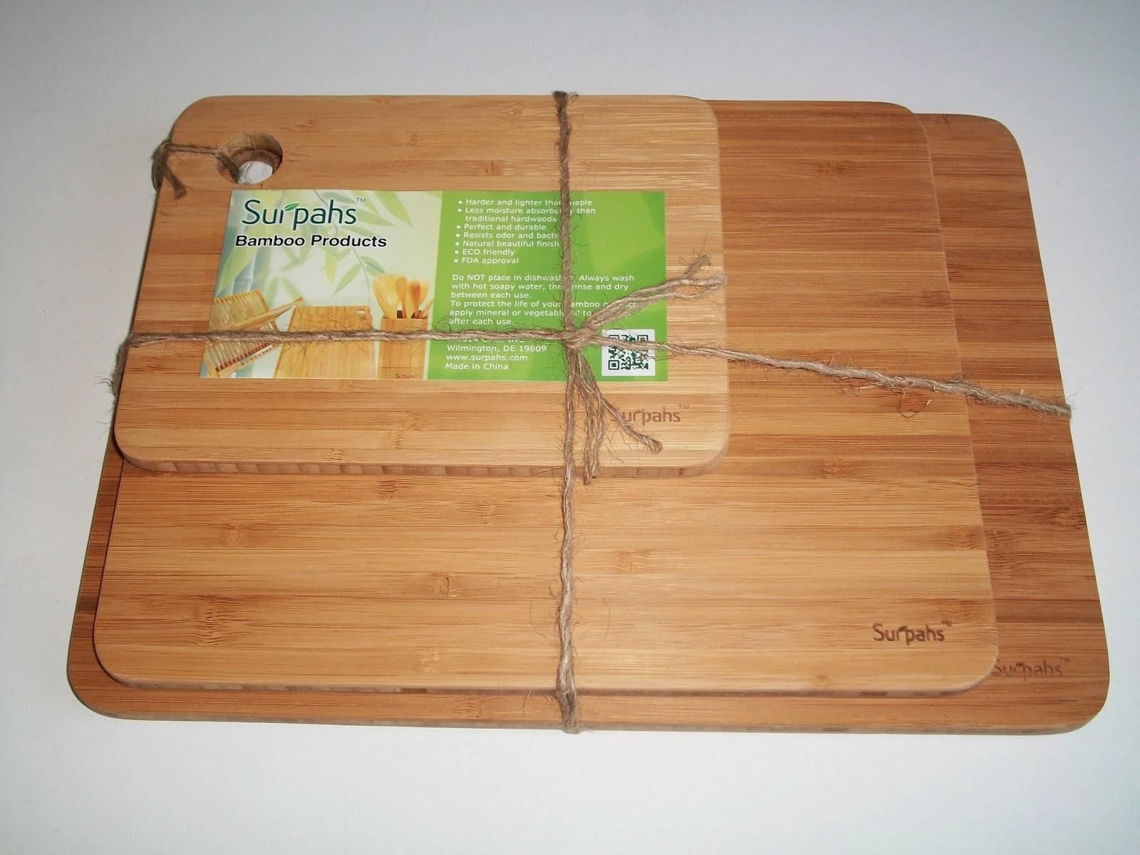 Mom Knows Best : Surpahs 3-Layer Bamboo Cutting Board Set