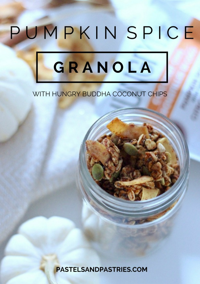 Healthy Pumpkin Spice granola with Hungry Buddha Coconut Chips