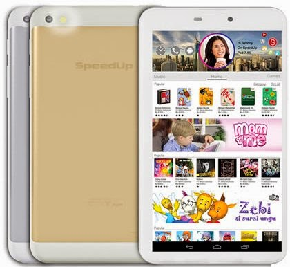 SpeedUp Pad Gold, Tablet 7 Inci 3G Harga Rp1,2 Juta
