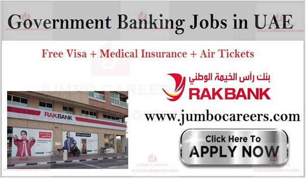 National Bank Of Ras Al Khaimah vacancies, latest job openings in RAK,