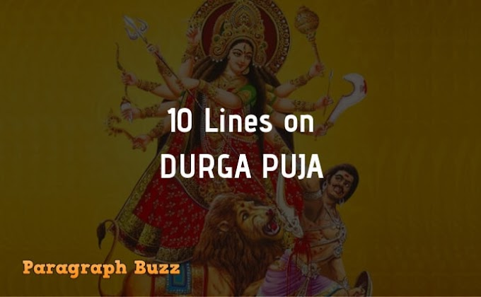 10 Lines on Durga Puja in English