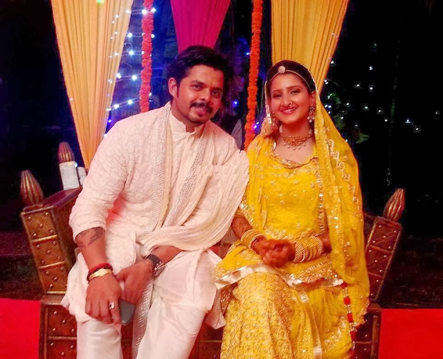 Sreesanth and Bhuvneshwari wedding reception