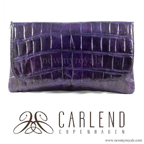 Crown Princess Mary style Carlend Copenhagen vanessa original croco purple clutch