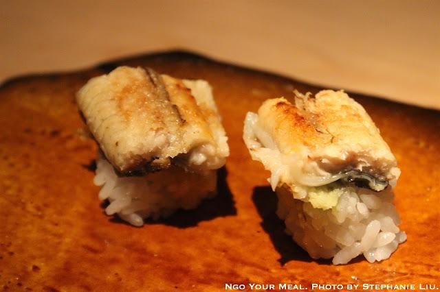 Unagi Shioyaki with Himalayan Salt at NAOE