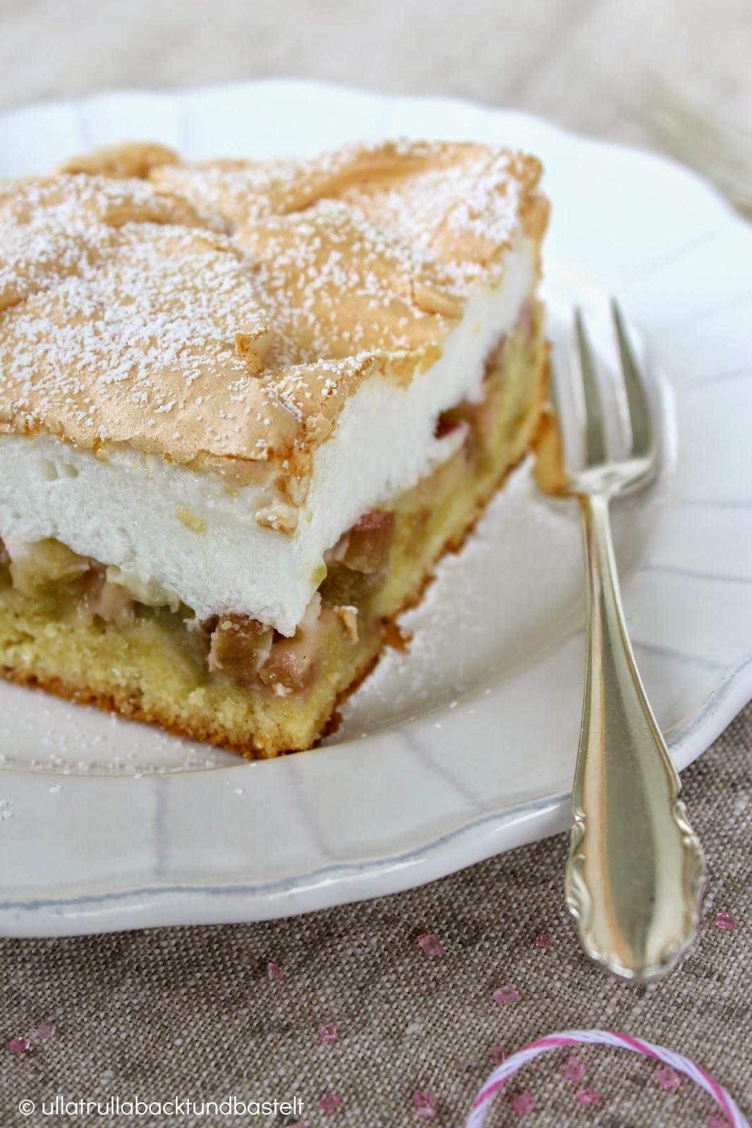 rhabarberkuchen mit baiserhaube blechkuchen