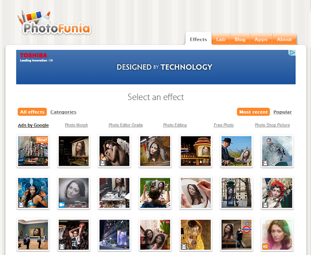 photofunia 2011 effects  software