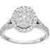 20% off for 14k White Gold Diamond Cluster Engagement Ring