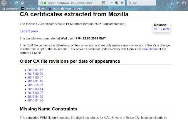 halaman unduh certificate