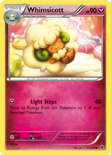 Whimsicott Fates Collide Pokemon Card