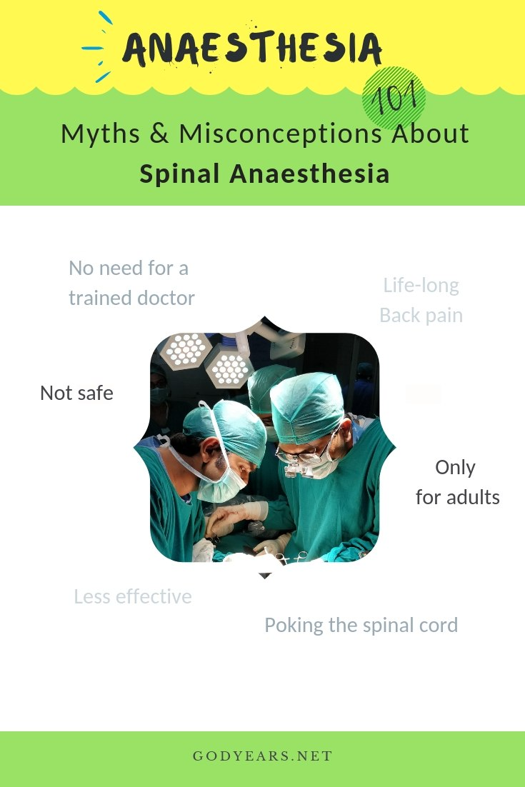 It is time to clear the air regarding those myths about spinal anaesthesia