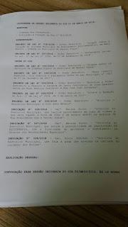 Ordem do Dia da Câmara de Veredores de Manoel Viana...