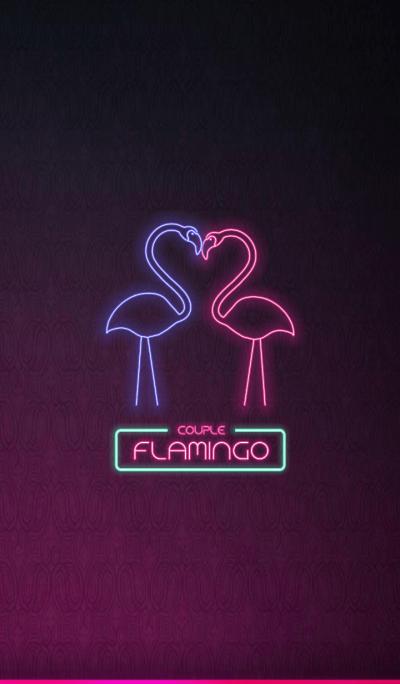 NEON LIGHTS: COUPLE FLAMINGO