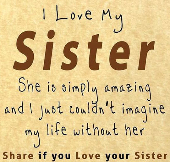 Funny I Love You Quotes For Sisters : love my sister funny sister quotes