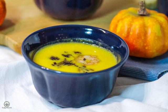 kürbissuppe mit mascarpone anstatt schlagobers - Foodblog Topfgartenwelt