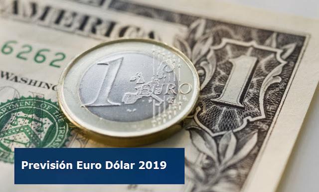 Previsión euro dólar 2019