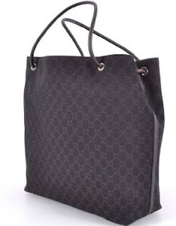 Gucci Large Monogram Logo Brown Gifford Jacquard Tote