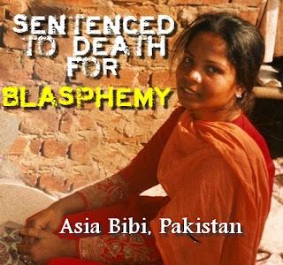 Asia Bibi, sentenced to death for blasphemy