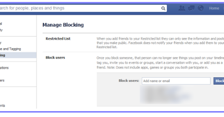 Block facebook friends list