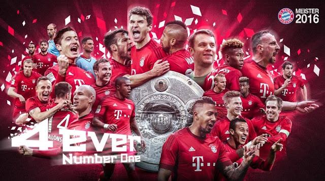 Bayern Champions Bundelisga 2015-16