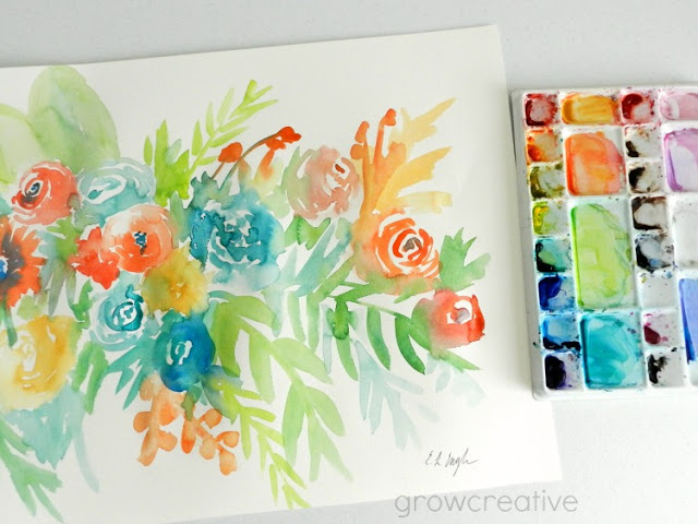 Watercolor Flowers by Elise Engh: growcreative