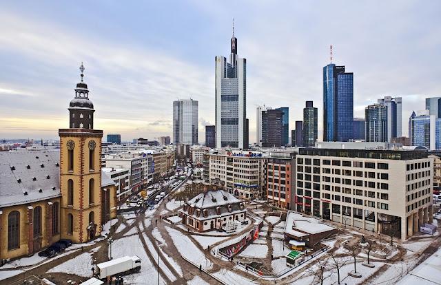 Inverno em Frankfurt