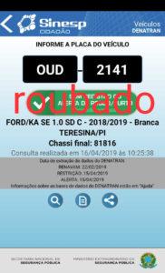 Bandidos roubam carro de equipe da TV Antena 10 em Teresina