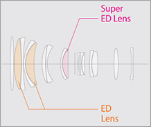 Оптическая схема объектива Fujinon GF 250mm f/4 R LM OIS WR