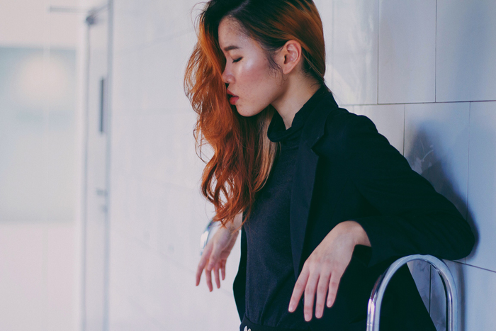 Brunei Blogger May Cho of The Mayden in collaboration with model Phoebe Chok nd Shi Min of discofissh, taken by Mujahid Jay Johar   style, blazer, monochrome, women empowerment