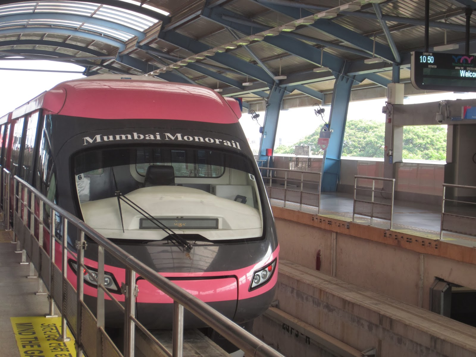 Taking Off in the Mumbai Monorail