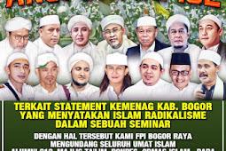 Hadirilah Aksi Damai 102 Di Kantor Kementerian Agama Bogor, Kamis Pagi 1 Februari 2018