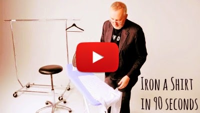 Learn how to Iron your Shirt in less than 90 seconds to get a smooth wrinkle free shirt just in time for the Party or Work via geniushowto.blogspot.com lifehack productive videos
