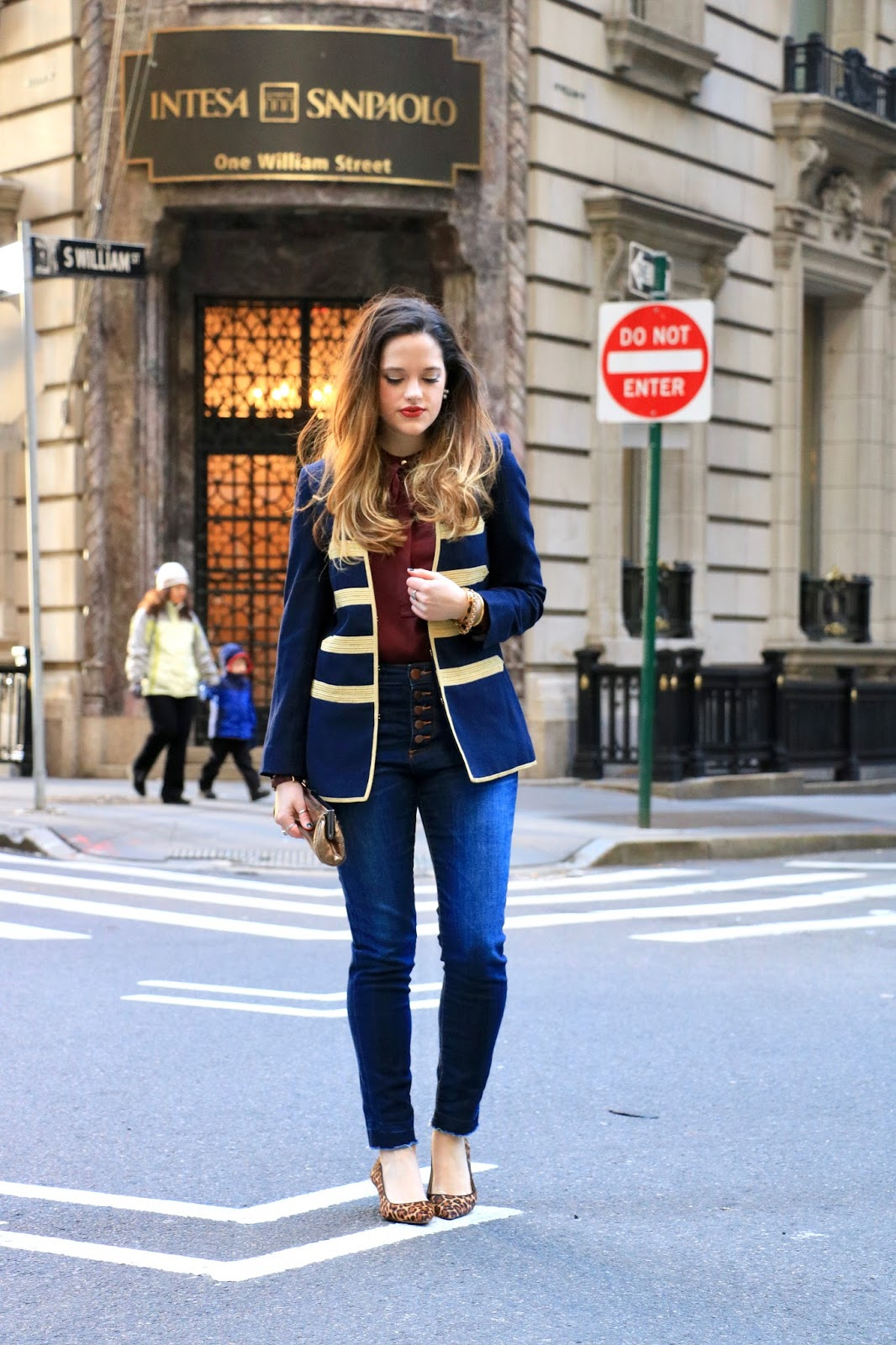 Nyc fashion blogger Kathleen Harper's denim fall street style