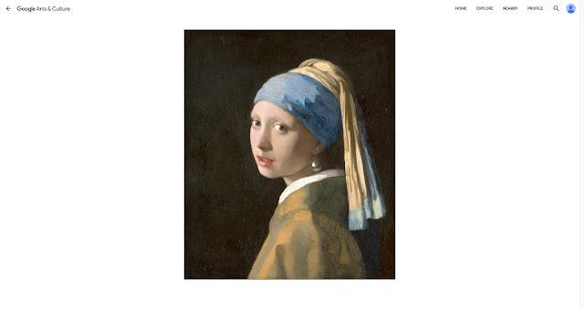 """Das Gemälde """"Das Mädchen mit dem Perlenohrring"""" auf Google Arts & Culture"""