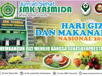 Desain Banner Selamat Hari Gizi dan Makanan Nasional 2019